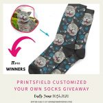 Printsfield Customized Your Own Socks Giveaway
