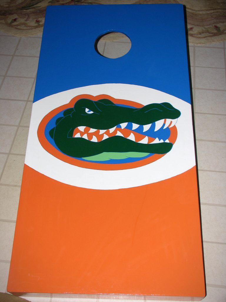Florida Gator Cornhole Board