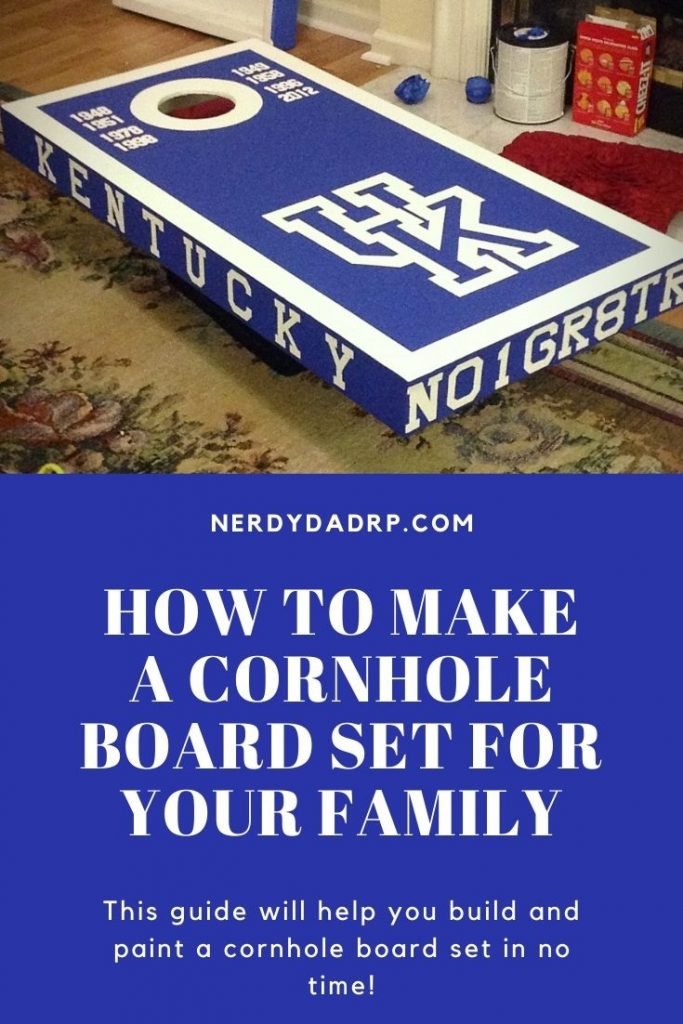 How to Make a Cornhole Board Set For Your Family