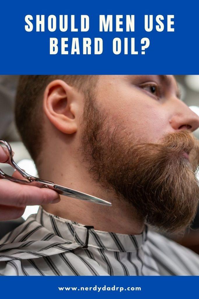 facial hair grooming with beard oil
